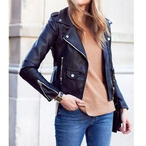 Blank NYC Easy Rider Faux Leather Moto jacket S